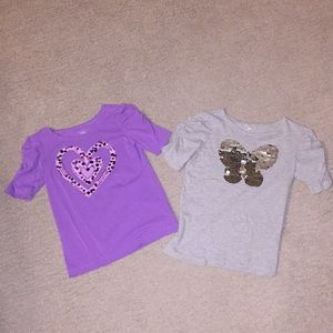 Children's Place Shirts & Tops - Two sequin shirts 💜